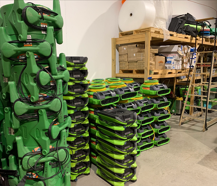 Why SERVPRO The warehouse is ready for the next job.