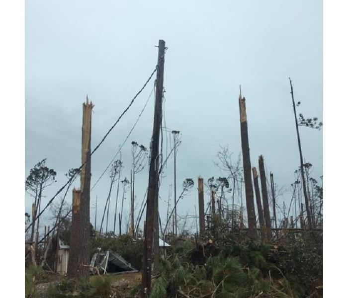 Storm Damage Demolished Home in Lynn Haven, FL