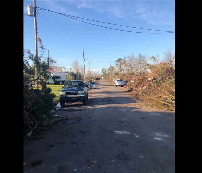Storm Damage Aftermath of Hurricane Michael.
